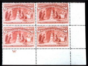 Sale Number 745, Lot Number 666, Columbian Issue$1.00 Columbian (241), $1.00 Columbian (241)