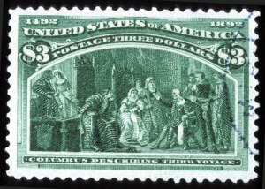 Sale Number 745, Lot Number 673, Columbian Issue$3.00 Columbian (243), $3.00 Columbian (243)