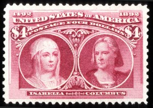 Sale Number 745, Lot Number 675, Columbian Issue$4.00 Columbian (244), $4.00 Columbian (244)