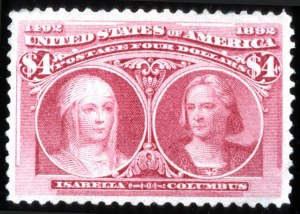 Sale Number 745, Lot Number 676, Columbian Issue$4.00 Columbian (244), $4.00 Columbian (244)