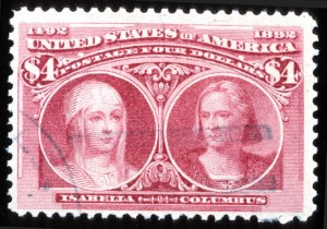 Sale Number 745, Lot Number 677, Columbian Issue$4.00 Columbian (244), $4.00 Columbian (244)