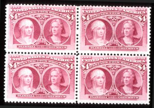 Sale Number 745, Lot Number 679, Columbian Issue$4.00 Columbian (244), $4.00 Columbian (244)
