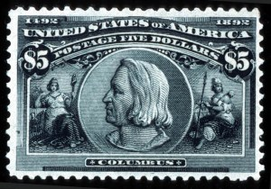 Sale Number 745, Lot Number 681, Columbian Issue$5.00 Columbian (245), $5.00 Columbian (245)