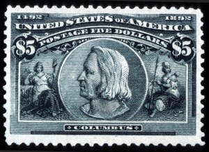 Sale Number 745, Lot Number 683, Columbian Issue$5.00 Columbian (245), $5.00 Columbian (245)