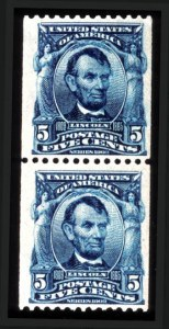 Sale Number 745, Lot Number 729, 1902-08 Issue5c Blue, Coil (317), 5c Blue, Coil (317)