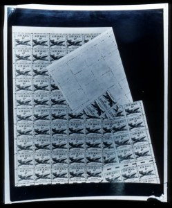 Sale Number 745, Lot Number 851, Air Post6c Airmail, Block of Thirteen Stamps with Full Horizontal Gutter Between (C39 var), 6c Airmail, Block of Thirteen Stamps with Full Horizontal Gutter Between (C39 var)
