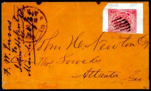 Sale Number 754, Lot Number 118, Postmasters ProvisionalsAthens Ga., 5c Red (5X2), Athens Ga., 5c Red (5X2)
