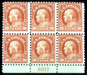 Sale Number 755, Lot Number 272, 20th Century up to 1922 Issue30c Orange Red, Unwatermarked (476A), 30c Orange Red, Unwatermarked (476A)