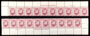 Sale Number 755, Lot Number 304, Special Delivery thru Officials50c Bright Claret, Postage Due (J28), 50c Bright Claret, Postage Due (J28)