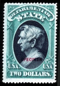 "Sale Number 755, Lot Number 306, Special Delivery thru Officials$2.00 State, ""Specimen"" Ovpt. (O68S), $2.00 State, ""Specimen"" Ovpt. (O68S)"
