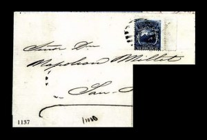 Sale Number 756, Lot Number 1137, Gallagher Collection of Barbuda thru CubaCOSTA RICA, 1863, -1/2r Dark Blue (1), COSTA RICA, 1863, -1/2r Dark Blue (1)