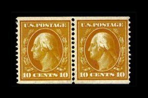 Sale Number 761, Lot Number 1342, 1898 Trans-Mississippi thru Washington-Franklins10c Yellow, Coil (356), 10c Yellow, Coil (356)