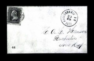 Sale Number 761, Lot Number 44, 3c 1861-68 IssuesFort Abercrombie D.T. May 30, Fort Abercrombie D.T. May 30