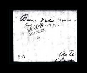 Sale Number 761, Lot Number 637, Western and Territorial MailsBuena Vista Mexico July 15th 1847, Buena Vista Mexico July 15th 1847