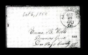 Sale Number 761, Lot Number 648, Western and Territorial MailsSacramento Cal. 40 Oct. 24, Sacramento Cal. 40 Oct. 24