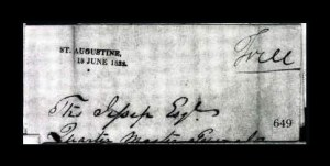 Sale Number 761, Lot Number 649, Western and Territorial MailsST. AUGUSTINE, 18 JUNE 1822, ST. AUGUSTINE, 18 JUNE 1822