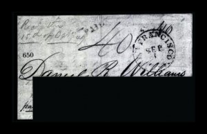 Sale Number 761, Lot Number 650, Western and Territorial MailsSan Francisco Cal. Sep. 1, San Francisco Cal. Sep. 1