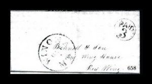 Sale Number 761, Lot Number 658, Western and Territorial MailsWinona M.T. Oct. 1, Winona M.T. Oct. 1