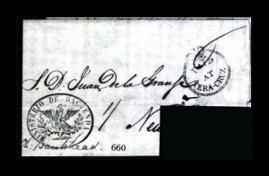Sale Number 761, Lot Number 660, Western and Territorial MailsPaid At Vera-Cruz, Paid At Vera-Cruz