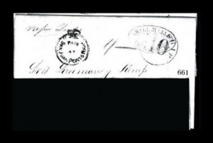 Sale Number 761, Lot Number 661, Western and Territorial MailsPaid At San Juan Porto Rico, Paid At San Juan Porto Rico