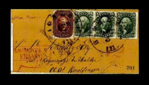 Sale Number 761, Lot Number 701, 1851-56 and 1857-60 Issue Covers5c Red Brown, 10c Green, Ty. II, III (28, 32, 33), 5c Red Brown, 10c Green, Ty. II, III (28, 32, 33)