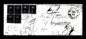 Sale Number 761, Lot Number 710, 1851-56 and 1857-60 Issue Covers12c Black (36), 12c Black (36)