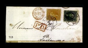 Sale Number 761, Lot Number 713, 1861-68 and 1869 Pictorial Issue Covers5c Buff (67), 5c Buff (67)