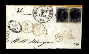Sale Number 761, Lot Number 719, 1861-68 and 1869 Pictorial Issue Covers90c Blue (72), 90c Blue (72)