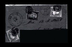 Sale Number 761, Lot Number 721, 1861-68 and 1869 Pictorial Issue Covers2c Black (73), 2c Black (73)