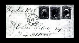 Sale Number 761, Lot Number 727, 1861-68 and 1869 Pictorial Issue Covers5c Brown, 15c Black (76, 77), 5c Brown, 15c Black (76, 77)