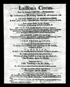 Sale Number 764A, Lot Number 1, Colonial and 18th Century America18th Century American Circus Broadside, 18th Century American Circus Broadside
