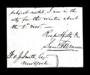 Sale Number 764A, Lot Number 283, Inventors and ScientistsSamuel F.B. Morse, Samuel F.B. Morse