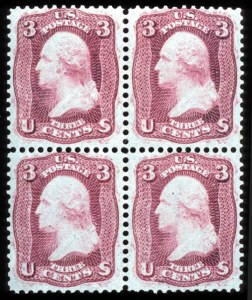 Sale Number 767, Lot Number 150, 1861-66 Issue3c Brown Rose, First Design (56), 3c Brown Rose, First Design (56)