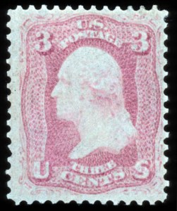 Sale Number 767, Lot Number 153, 1861-66 Issue3c Pink (64), 3c Pink (64)
