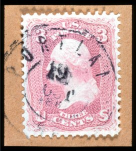 Sale Number 767, Lot Number 154, 1861-66 Issue3c Pigeon Blood Pink (64a), 3c Pigeon Blood Pink (64a)