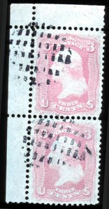 Sale Number 767, Lot Number 155, 1861-66 Issue3c Pigeon Blood Pink (64a), 3c Pigeon Blood Pink (64a)