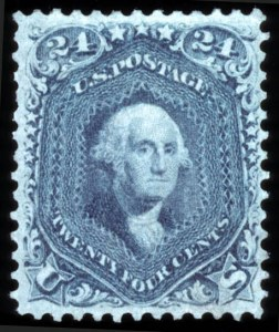 Sale Number 767, Lot Number 163, 1861-66 Issue24c Steel Blue (70b), 24c Steel Blue (70b)