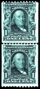Sale Number 767, Lot Number 274, 1902-08 Issue1c Blue Green, Coil (316), 1c Blue Green, Coil (316)