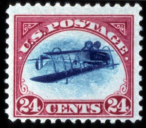 Sale Number 767, Lot Number 296, Air Post24c Carmine Rose & Blue, Center Inverted (C3a), 24c Carmine Rose & Blue, Center Inverted (C3a)