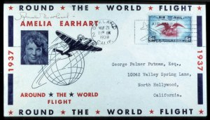 Sale Number 767, Lot Number 302, Air Post1937, March 17 (First Attempt), May 21 (Second Attempt) - Round-the-World Flight from Oakland, California, 1937, March 17 (First Attempt), May 21 (Second Attempt) - Round-the-World Flight from Oakland, California