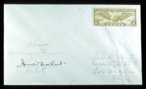 Sale Number 767, Lot Number 303, Air PostAmelia Earhart, Amelia Earhart