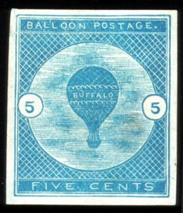 Sale Number 767, Lot Number 307, Air Post5c Deep Blue, Buffalo Balloon (CL1), 5c Deep Blue, Buffalo Balloon (CL1)