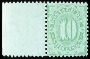 Sale Number 767, Lot Number 442, General ForeignAUSTRALIA, 1902, 10sh Emerald, Postage Due (J21, SG D43), AUSTRALIA, 1902, 10sh Emerald, Postage Due (J21, SG D43)