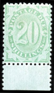 Sale Number 767, Lot Number 443, General ForeignAUSTRALIA, 1902, 20s Emerald, Postage Due (J22, SG D44), AUSTRALIA, 1902, 20s Emerald, Postage Due (J22, SG D44)