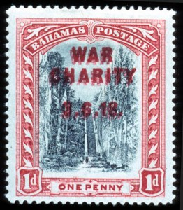 Sale Number 767, Lot Number 444, General ForeignBAHAMAS, 1919, 1p War Charity, Double Overprint (B2a, SG 101a), BAHAMAS, 1919, 1p War Charity, Double Overprint (B2a, SG 101a)