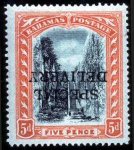 Sale Number 767, Lot Number 446, General ForeignBAHAMAS, 1916, 5p Special Delivery, Inverted Overprint (E1b, SG S1c), BAHAMAS, 1916, 5p Special Delivery, Inverted Overprint (E1b, SG S1c)