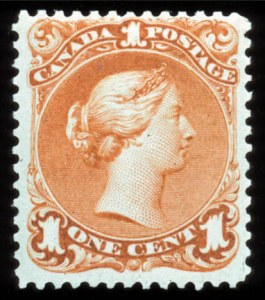 Sale Number 767, Lot Number 450, General ForeignCANADA, 1868, 1c Deep Orange (23a, SG 56), CANADA, 1868, 1c Deep Orange (23a, SG 56)