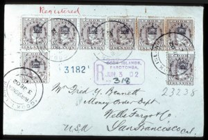 Sale Number 767, Lot Number 456, General ForeignCOOK ISLANDS, 1901, 1p Brown, Crown Overprint (26, SG 22), COOK ISLANDS, 1901, 1p Brown, Crown Overprint (26, SG 22)