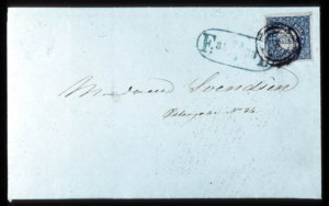 Sale Number 767, Lot Number 458, General ForeignDENMARK, 1851, 2rs Blue (1), DENMARK, 1851, 2rs Blue (1)