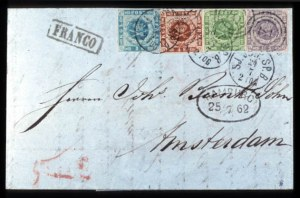 Sale Number 767, Lot Number 459, General ForeignDENMARK, 1854, 2s Blue, 4s Brown, 8s Green, 16s Gray Lilac (3, 5, 6, 7), DENMARK, 1854, 2s Blue, 4s Brown, 8s Green, 16s Gray Lilac (3, 5, 6, 7)